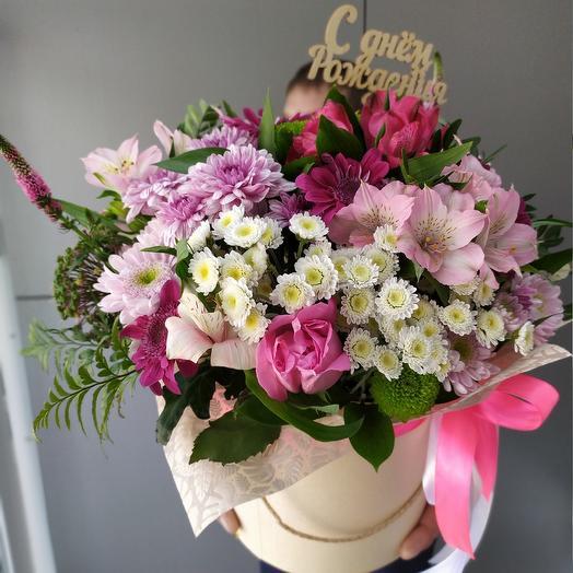 Поздравительная коробочка: букеты цветов на заказ Flowwow