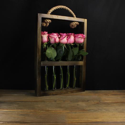 "Композиция ""Композиция"" из 5 роз: букеты цветов на заказ Flowwow"