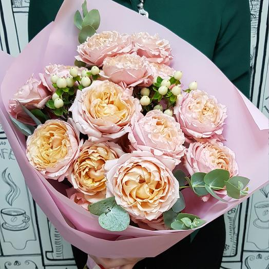 """Букет с пионовидной розой """"Джульетта"""": букеты цветов на заказ Flowwow"""
