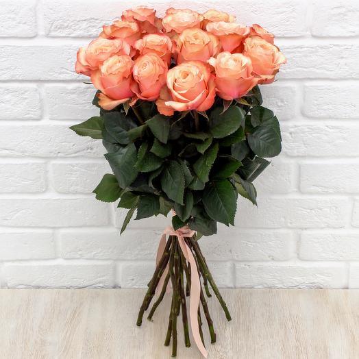 """15 пионовидных роз """"Кахала"""""""