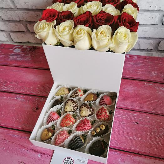 Шкатулка СЮРПРИЗ M: букеты цветов на заказ Flowwow