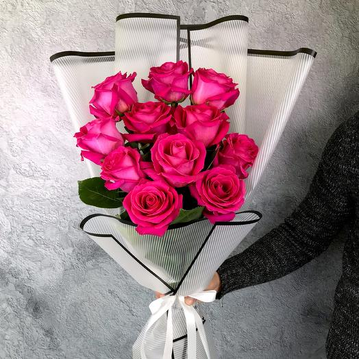 A bouquet of 11 roses: flowers to order Flowwow