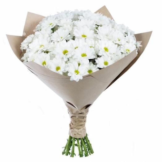 "Букет хризантем ""Вайт Лав"": букеты цветов на заказ Flowwow"