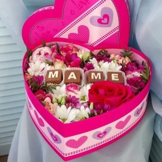 Маме от всего сердца: букеты цветов на заказ Flowwow