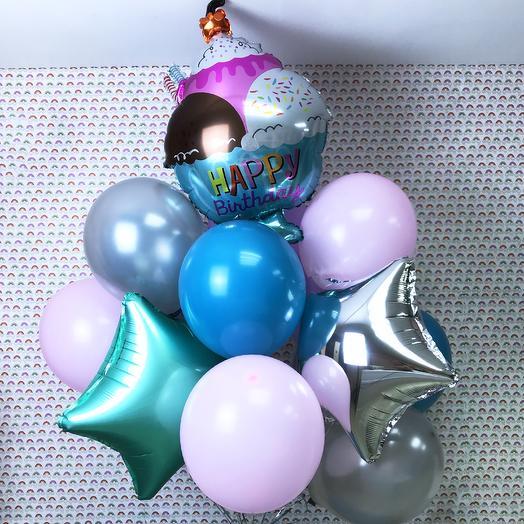 Фонтан воздушных шаров «Мороженое»: букеты цветов на заказ Flowwow