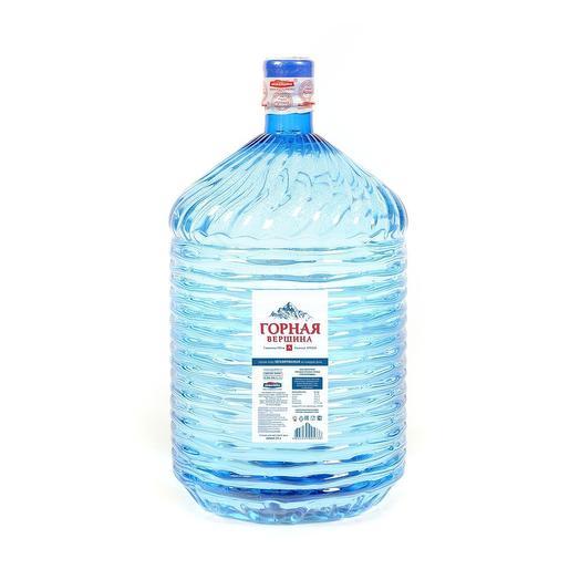Минеральная столовая вода Горная вершина, 19л, ПЭТ (бутылка одноразовая)
