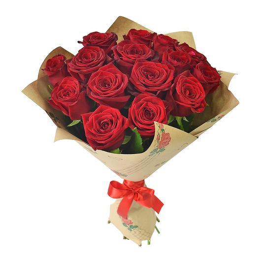 Розы Ред Наоми 60 см, 15 шт