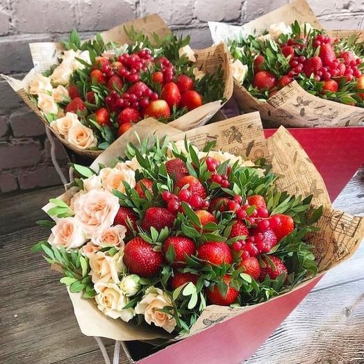Букет Клубничка: букеты цветов на заказ Flowwow