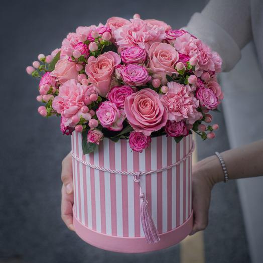 """Розы в коробке """"Сон Венеры"""""""