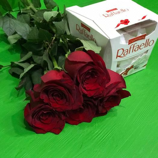 Розы +рафаэлло