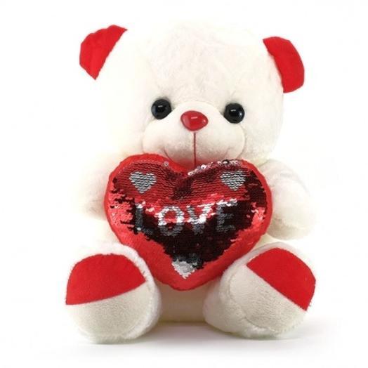 Bear heart with sparkles
