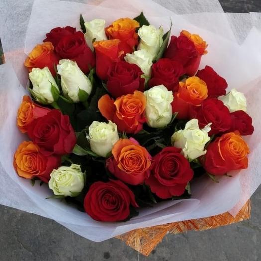 Радуга роз - 31 шт: букеты цветов на заказ Flowwow
