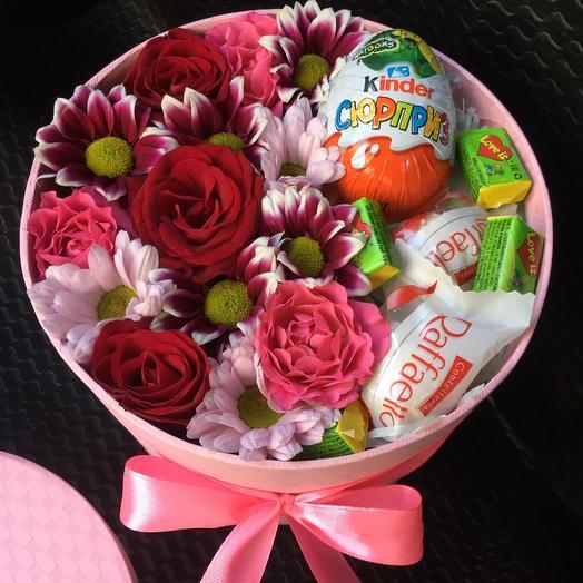 Цветы в коробке 2215