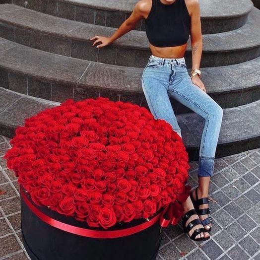 301 красная Роза Эквадор 70 см