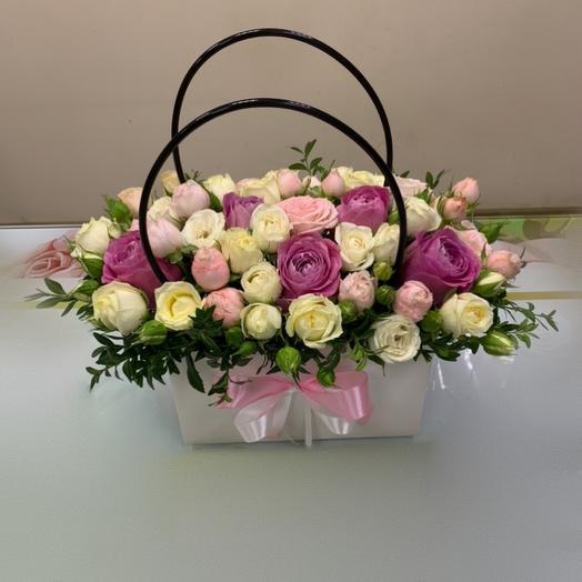 Цветы в сумочке «Кокетка»