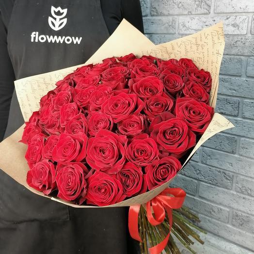 51 красная роза сорта Рэд Наоми