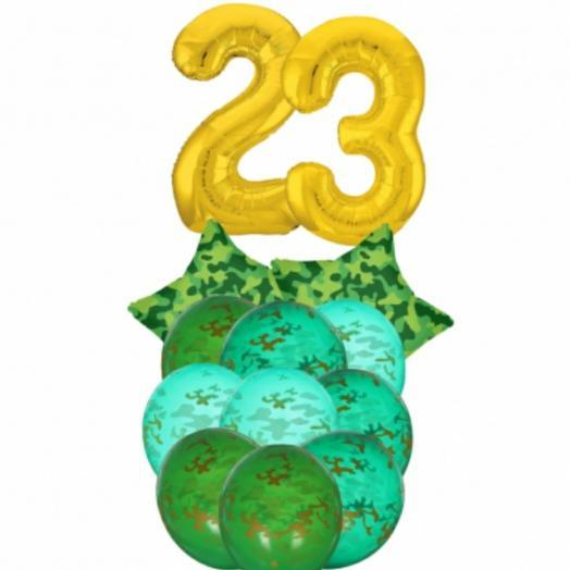 Буке из шаров с цифрами