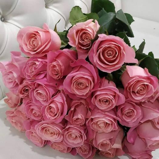 25 розовых роз Эквадор
