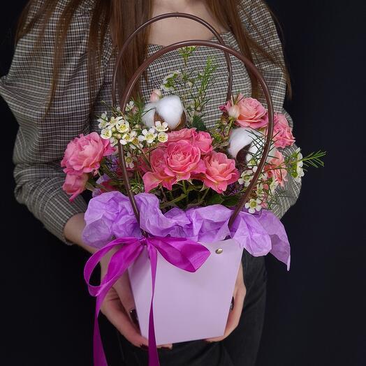 Сумочка-комплимент с цветами 💐