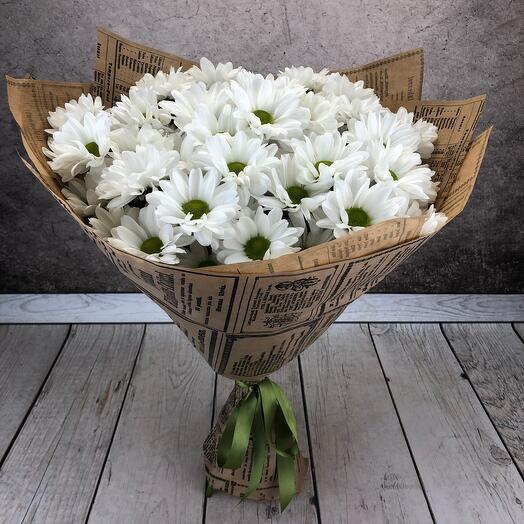 Букет из кустовых хризантем 7шт