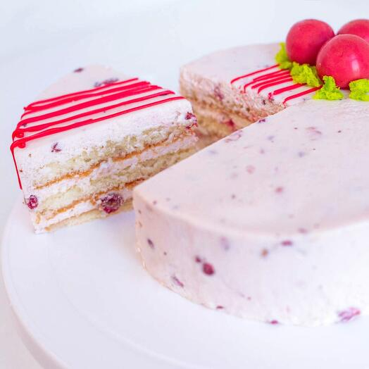 Торт Йогуртовый с брусникой