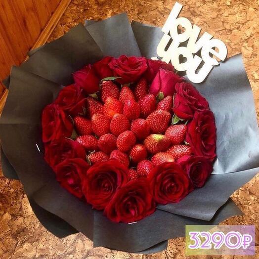 Клубника + розы