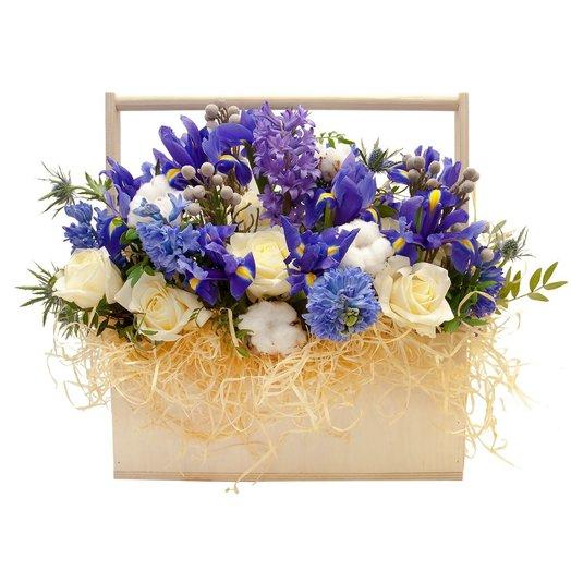 Композиция с цветами Небо в алмазах: букеты цветов на заказ Flowwow