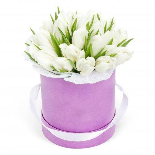 Шляпная коробка Нюанс: букеты цветов на заказ Flowwow