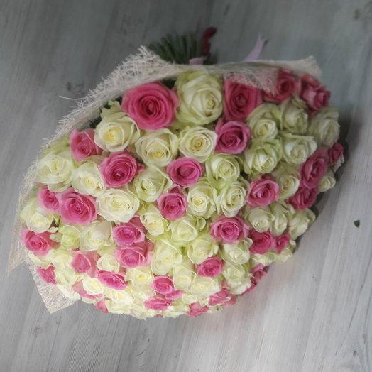 Букет 101роза микс: букеты цветов на заказ Flowwow