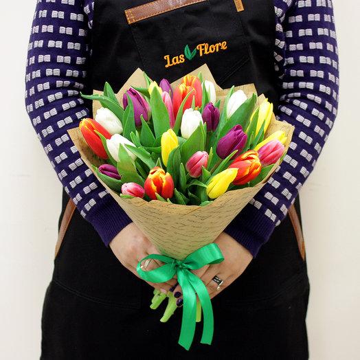 "Bouquet ""Spring palette"" (25 tulips)"