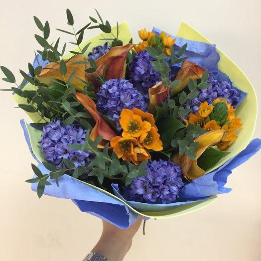 Цветы цвета неба : букеты цветов на заказ Flowwow