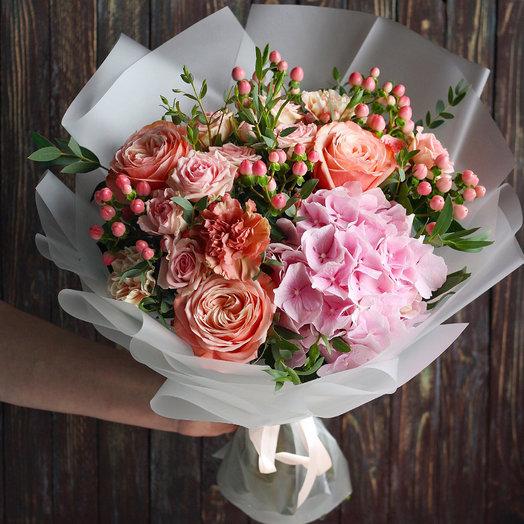 Букет Персиковый Джем: букеты цветов на заказ Flowwow