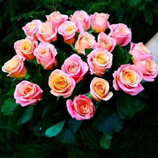 Букет роз Мисс Пигги: букеты цветов на заказ Flowwow