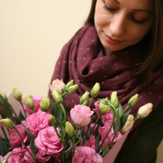 Воздушная, нежная эустома, она же лизиантус (15 штук): букеты цветов на заказ Flowwow