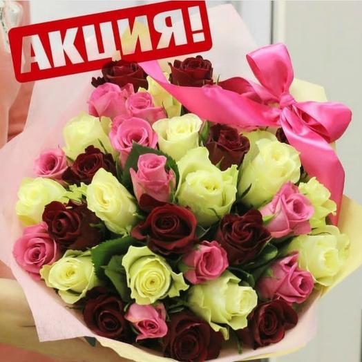 Букет из роз Вдохновение: букеты цветов на заказ Flowwow