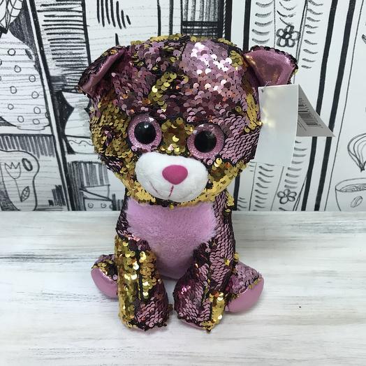 Мягкая игрушка Кошка с пайетками: букеты цветов на заказ Flowwow