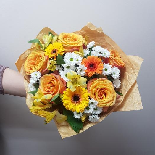 Букет   ТЕПЛАЯ ОСЕНЬ: букеты цветов на заказ Flowwow
