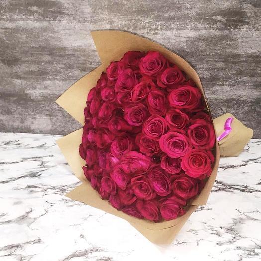 Эквадорская роза 75 шт: букеты цветов на заказ Flowwow