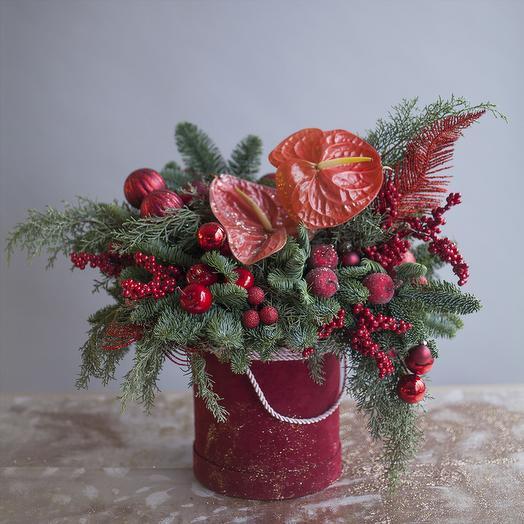 """Композиция """"Berry   Apple"""": букеты цветов на заказ Flowwow"""