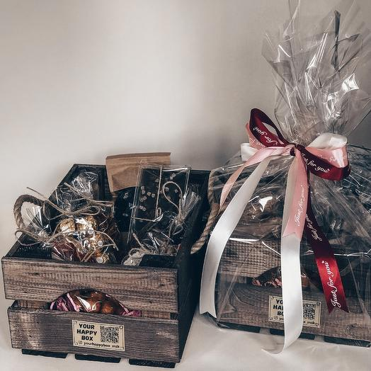 Cherry Coffee Box/ Набор вишнёво-кофейный: букеты цветов на заказ Flowwow