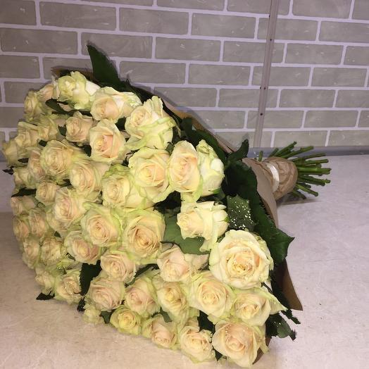 Букет 75 роз Аваланш