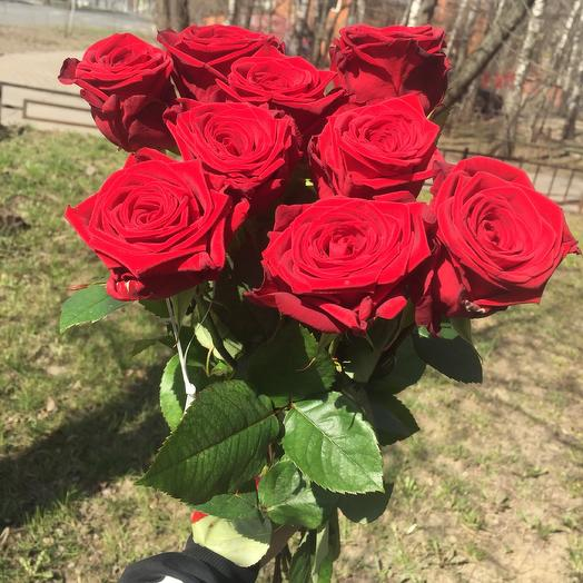 Роза Ред наоми 9 шт