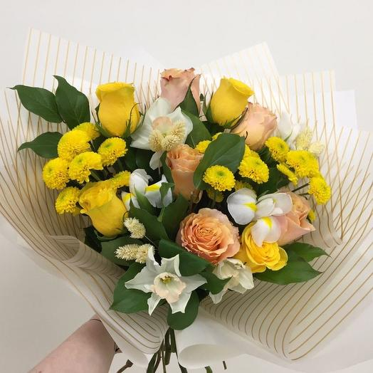 Букет «Солнечное настроение»: букеты цветов на заказ Flowwow