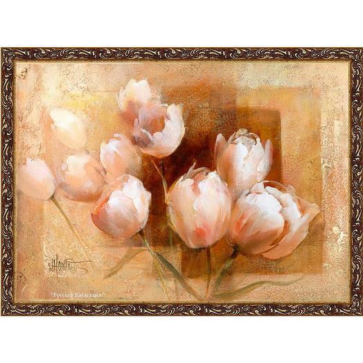 """Картина на холсте, """"Тюльпаны для вас"""", 80х60 см., художник - Willem Haenraets. Арт. ХВ-х32: букеты цветов на заказ Flowwow"""