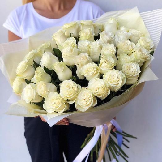 Букет 51 роза Мондиаль 60-70см