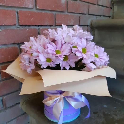 Цветы в коробке Комплимент»
