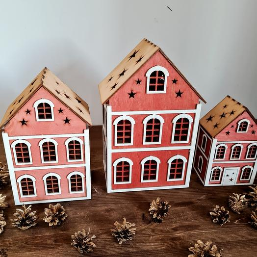 Набор деревянных домиков Вильнюс