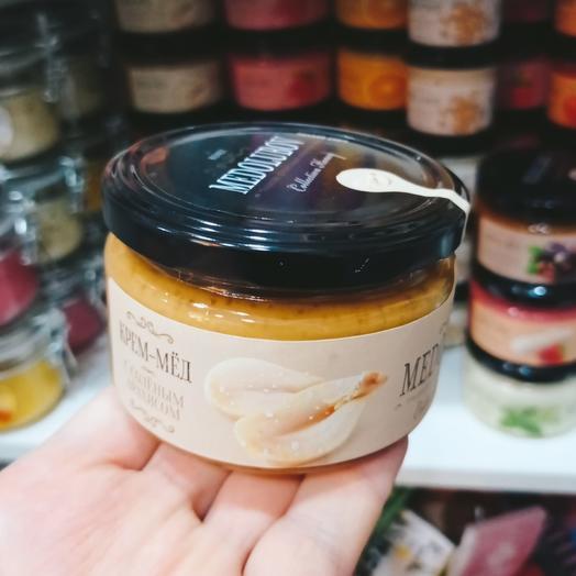 Крем-мед с солёным арахисом