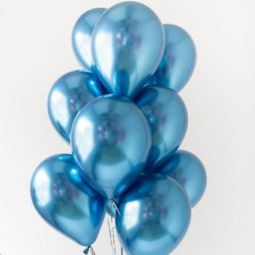 """Связка воздушных шаров""""Синий хром"""""""