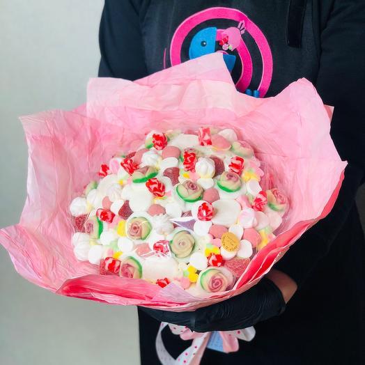 Букет Сэнтимэнти розовый мармелад зефир